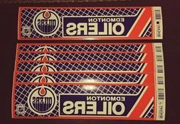 6 Vintage EDMONTON OILERS HOCKEY BUMPER STICKER LOT WinCraft