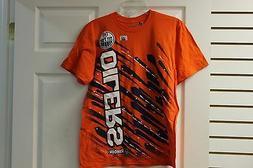 "Reebok ""B"" Grade Edmonton Oilers Orange/Navy Size Medium Ver"