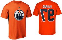 Connor McDavid Edmonton Oilers #97 Orange NHL Boys T-Shirt -