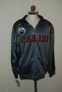 edmonton oiler full zip track jacket coat
