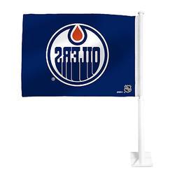 """Edmonton Oilers 11.5"""" x 15"""" Double Sided Car Flag"""