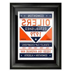 Edmonton Oilers 12x16 Dual Tone Framed Artwork