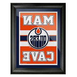 Edmonton Oilers 12x16 Man Cave Framed Artwork