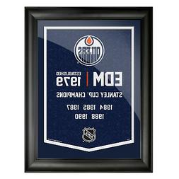 Edmonton Oilers 12x16 Team Empire Framed Artwork