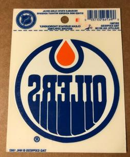 "Edmonton Oilers 3 1/2"" Reusable Static Cling Decal, NHL 19"