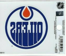 "Edmonton Oilers 3"" x 4"" Small Static Cling Auto Truck Car Wi"
