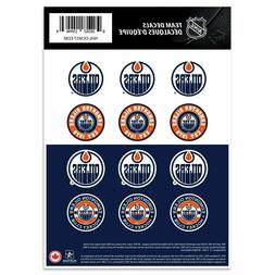 "Edmonton Oilers 5"" x 7"" Team Mini Logos 12 Decal Sticker Set"