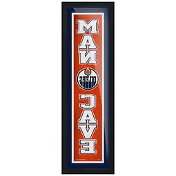 Edmonton Oilers 6x22 Team Man Cave Framed Artwork