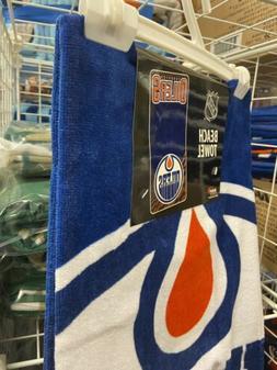 "Edmonton Oilers Beach Towel NEW nice 30"" x 60"" NBA Cotton"