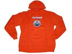 Edmonton Oilers Reebok Orange Big Logo Pullover Hoodie Sweat