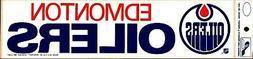 Edmonton Oilers Classic Logo ~Original Bumper Sticker~Great