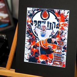 Edmonton Oilers - Connor McDavid #97 - Men Cave - Unique Art