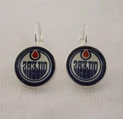 Edmonton Oilers Earrings made from Hockey Trading Cards Grea