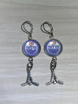 Edmonton Oilers Sterling Silver Earrings made from Recycled