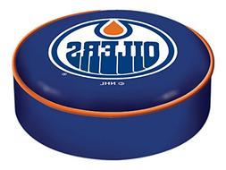 Edmonton Oilers HBS Navy Vinyl Elastic Slip Over Bar Stool S