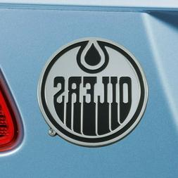 Edmonton Oilers Heavy Duty Metal 3-D Chrome Auto Emblem