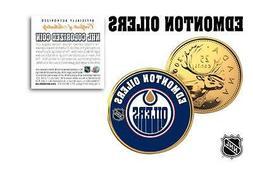 EDMONTON OILERS Legal Tender GOLD Canada Quarter Coin NHL