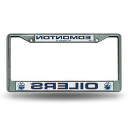 Edmonton Oilers Logo NHL Chrome Metal License Plate Frame