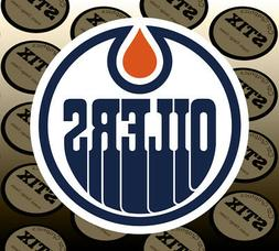 Edmonton Oilers Logo NHL Color Die Cut Vinyl Sticker Car Win