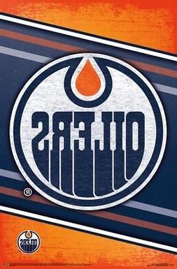 EDMONTON OILERS - LOGO POSTER - 22x34 NHL HOCKEY 16279