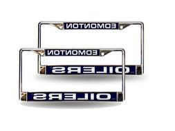 Edmonton Oilers NHL Chrome Metal  Laser Cut License Plate Fr