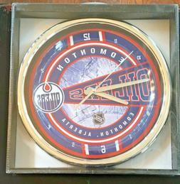 Edmonton Oilers NHL Chrome Wall Clock by Memory Company New