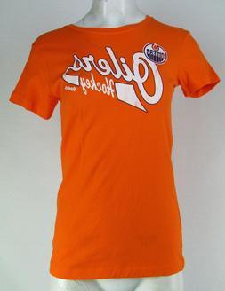Edmonton Oilers NHL Reebok Girls Orange Short Sleeve T-Shirt