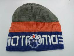 Edmonton Oilers Reebok NHL Knit Thermal Grey Orange Blue Hat