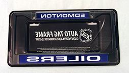 Edmonton Oilers NHL Laser Cut Black License Plate Frame
