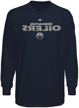 Edmonton Oilers NHL Licensed Majestic Thread Long Sleeve Nav