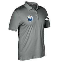 Edmonton Oilers NHL Adidas Men's Climacool Vista Grey 3-Stri