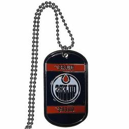 """edmonton oilers nhl necklace dog tag 26"""" chain"""