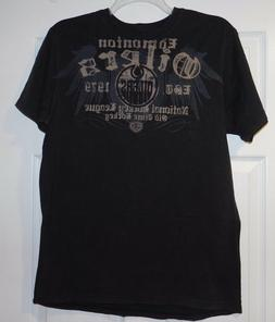 EDMONTON OILERS - NHL ~ OLD TIME HOCKEY T SHIRT SIZE L ~ New
