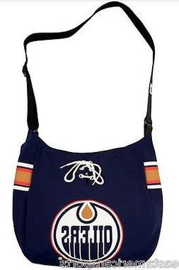 Edmonton Oilers NHL Veteran MVP Jersey Messenger Tote Bag Pu
