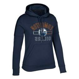 "Edmonton Oilers NHL Adidas Women's ""Open Box Stack"" Navy Blu"
