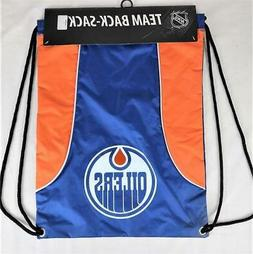 Edmonton Oilers Officially Licensed NHL Back Sack Tote