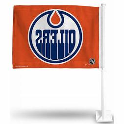 edmonton oilers orange car auto window flag