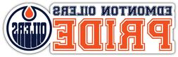 "Edmonton Oilers Pride NHL Sport Car Bumper Sticker Decal - """