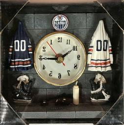 "Edmonton Oilers Retro Locker Room 6x6"" Elby Table Clock"