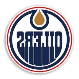 Edmonton Oilers Round Precision Cut Decal / Sticker