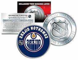 EDMONTON OILERS Royal Canadian Mint Medallion NHL Colorized