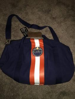 Edmonton Oilers Rugby Duffel Bag NHL Officially Licensed W/