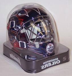 Edmonton Oilers Franklin Sports NHL Mini Goalie Mask Helmet