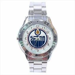 Edmonton Oilers Stainless Steel Watches - NHL Hockey
