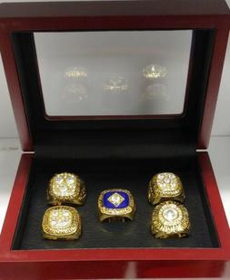 Edmonton Oilers - Stanley Cup 5 Ring Set WITH Wooden Box.. G