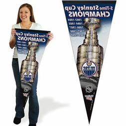 Edmonton Oilers Stanley Cup Champions Pennant Flag