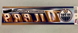 Edmonton Oilers Vibrant Official NHL Team Logo Car Bumper St