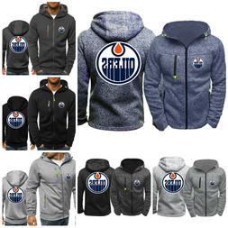 Edmonton Oilers Warm Hoodie Fans Hooded Sweatshirt Full-zip