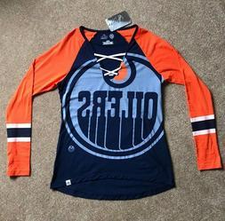 Edmonton Oilers Women's T-Shirt Shirt NHL Hockey M Medium Ne