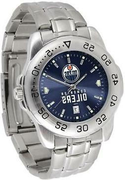 Gametime Edmonton Oilers Sport Steel Watch